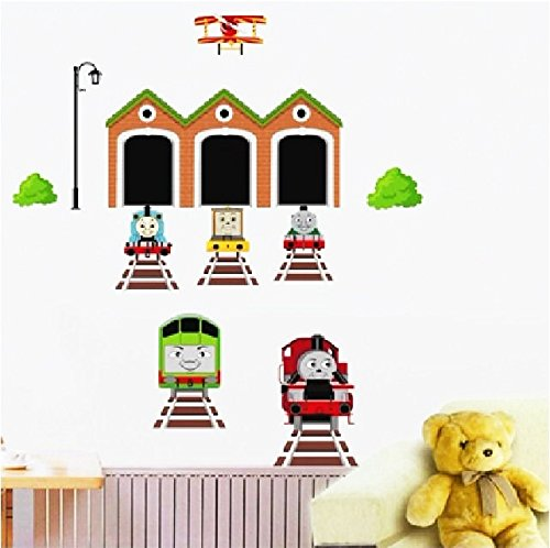 Thomas The Tank Engine Mural - Wall Decal, Removable Wallpaper- Thomas the Tank Engine Style 3D Wall Cling