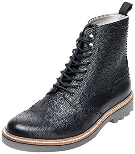 Clarks Monmart Rise - Botines Hombre Black Interest Leather
