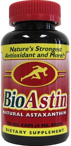 Nutrex Hawaii BioAstin Natural Astaxanthin 4mgs., 120 gel caps (Pack of 4) by Nutrex