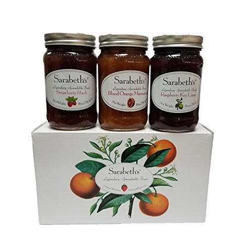 - Sarabeth's Legendary Spreadable Fruit - 3 Jar Gift Pack - Blood Orange Marmalade, Raspberry Key Lime, and Strawberry Peach