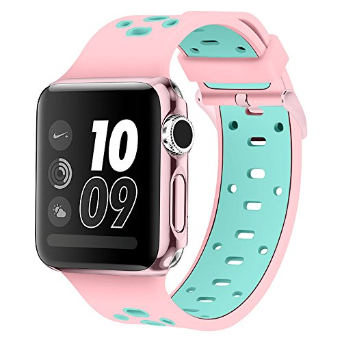 Price comparison product image Band for Apple Watch 42mm, Alritz Silicone Sport Strap Replacement Wristband Bracelet for Apple Watch Series 3 / Series 2 / Series 1 / Nike+, Free Protective Cover Included