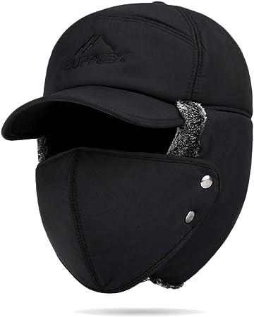 Matelassé pic chapeau de trappeur 20012 Homme Noir Navy 58-60 CM