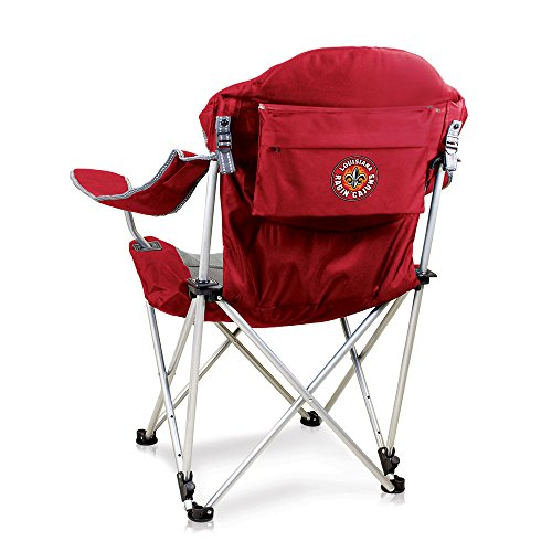 (NCAA Louisiana Lafayette Ragin' Cajuns Reclining Camp Chair, Red)