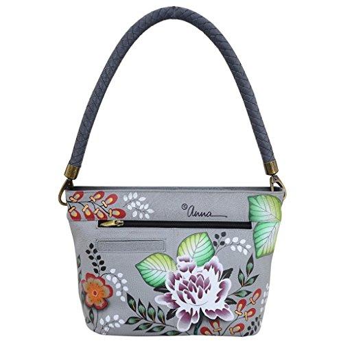 Purse Anna Handbag Hobo Leather Shoulder Garden Hand Painted of Anuschka Braided Bundle Holder Handle by amp; Eden zqrwRz