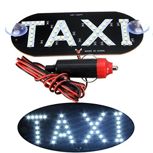 Light Screens Fog (ILS - Car White LED Cab Taxi Roof Sign Light 12V Vehical Inside Windscreen Lamp)