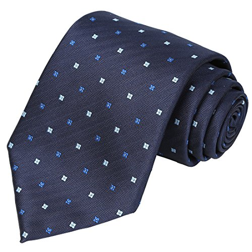KissTies Blue Tie Navy Dots Necktie Business Ties Dotted Necktie