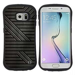 """Pulsar iFace Series Tpu silicona Carcasa Funda Case para Samsung Galaxy S6 EDGE , Gris Patrón rayas de ciencia ficción"""""""