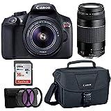 Canon EOS Rebel T6 18MP DSLR 18-55mm, 75-300mm Lenses, Bonus SD Card, and WiFi