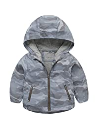 Right Euro Boys Raincoat Hooded Jacket Windproof Coat Outdoor Light Windbreaker
