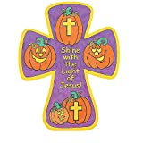 Bargain World Color Your Own! Christian Pumpkin Crosses (With Sticky Notes)