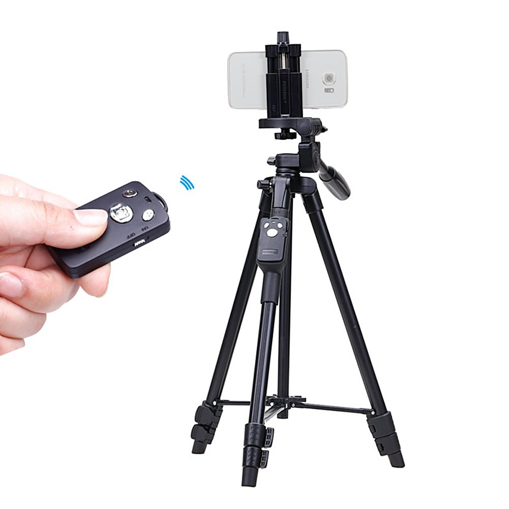 Yunteng 5208 43cm 125cm Aluminum Light Weight Tripod Yt 880 With Bluetooth Remote For Iphone 6s Plus Samsung Mi Smartphone Camera Photo