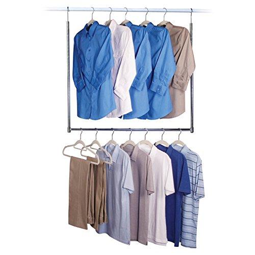 - Richards Homewares Commercial Grade Closet Doubler Rod, Chrome/Commercial Grade, 1