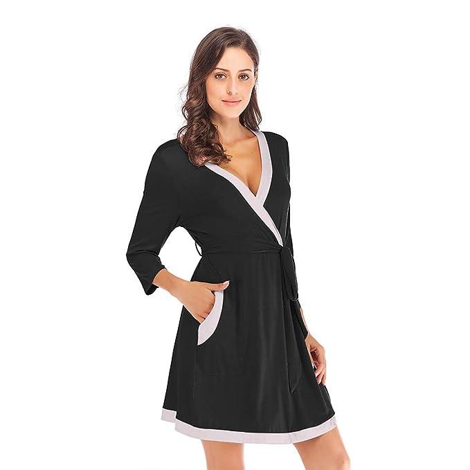 Amazon.com: Albornoz suave de algodón para mujer: Clothing