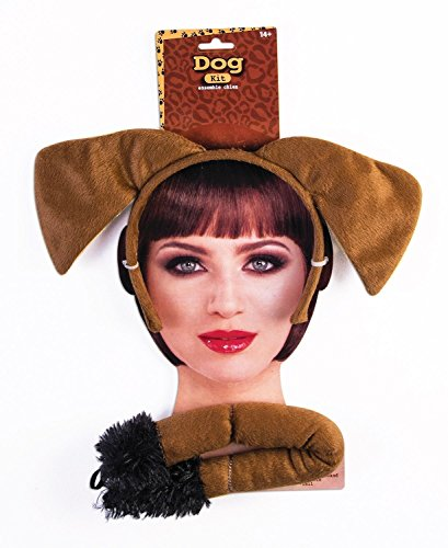 Forum Novelties 76847 Party Supplies Brown Dog Ears and Tail Set, One -