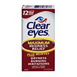 Clear Eyes Maximum Strength Redness Relief, 0.5 Fluid Ounce (Pack of 3)