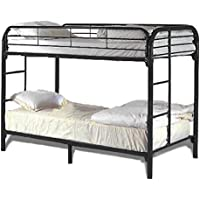 Milton Greens Stars 7540BK Dream Maker Twin Over Twin Bunk Bed, Black