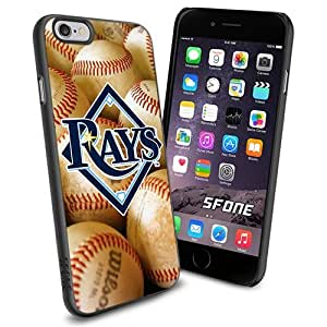 MLB, Tampa Bay Rays Logo Cool iPhone 6 Smartphone Case Cover Collector iPhone TPU Rubber Case Black