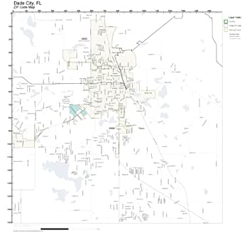 Amazon.com: ZIP Code Wall Map of Dade City, FL ZIP Code Map ... on