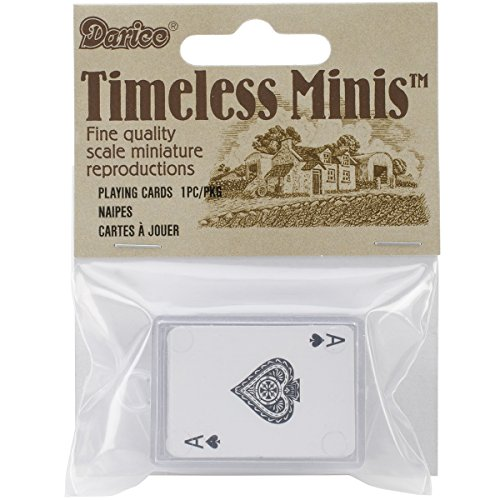 Darice Timeless Minis Fine Quality Scale Miniature Playing Cards. (1 PKG)