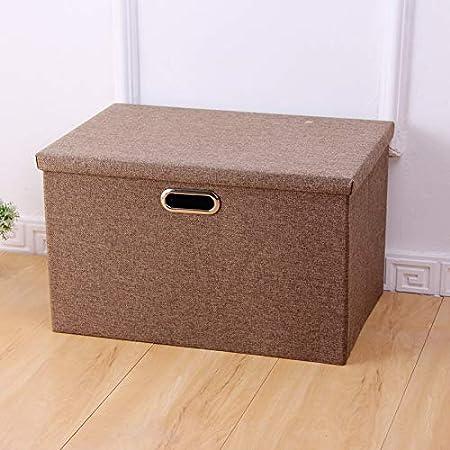 zxing Simple Ropa casa Caja de Almacenamiento, Armario cartón Caja organizadora, Mantas de escombros Hojas Organizador de cartón algodón 34.5x25.5x18cm Marrón: Amazon.es: Hogar