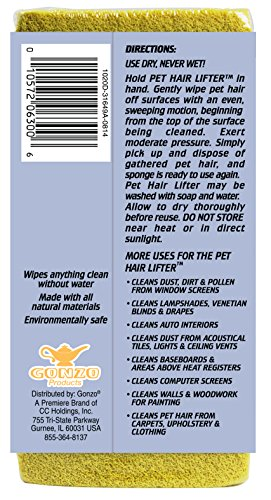 Gonzo-Pet-Hair-Lifter--Remove-Dog-Cat-Hair-from-Furniture-Carpets-Bedding-Clothing--1-Sponge