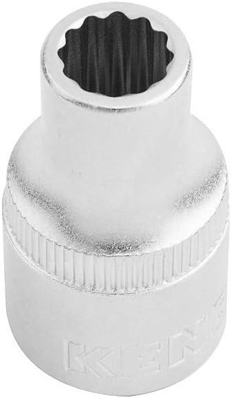 Zw/ölfkant KENDO Steckschl/üsseleinsatz 30mm Steckschl/üssel-Einsatz aus Chrom-Vanadium-Stahl mit 30mm Durchmesser und 1//2 Zoll Antrieb