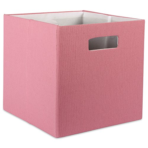 (DII Hard Sided Collapsible Fabric Storage Container for Nursery, Offices, & Home Organization, (13x13x13