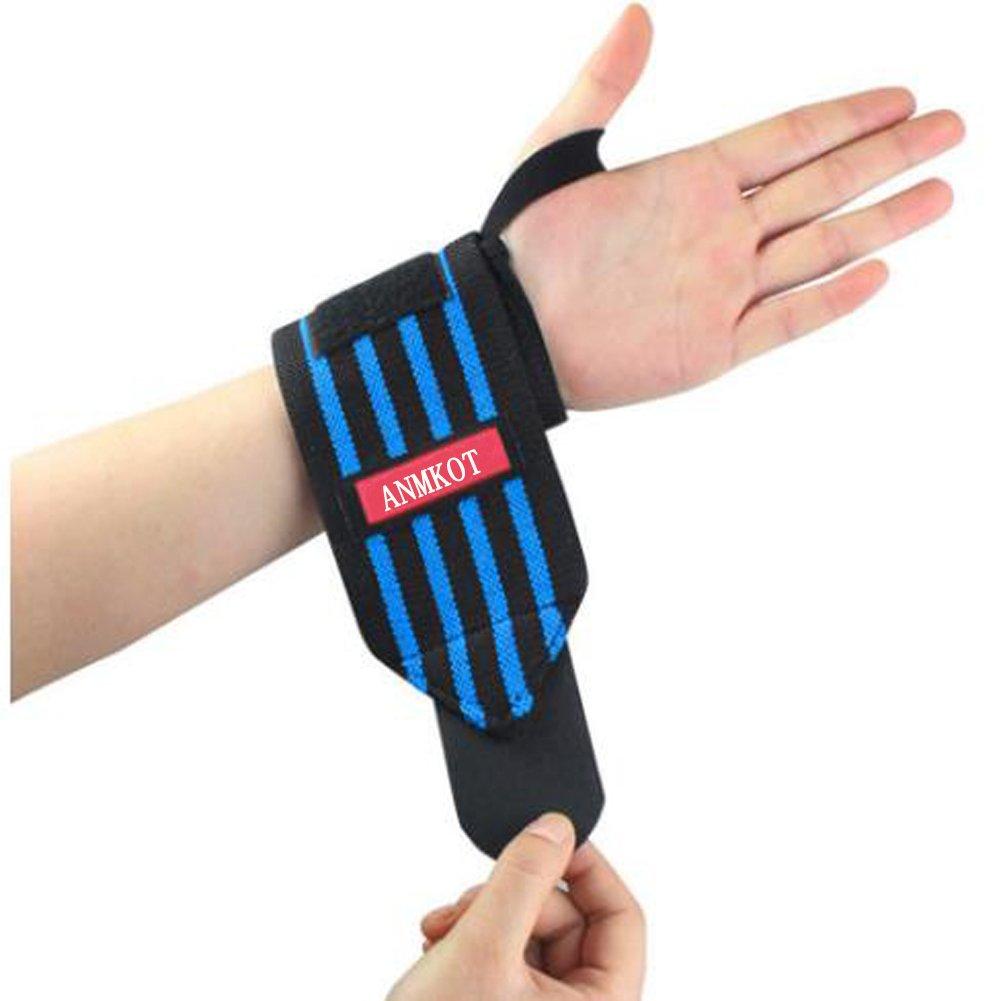 Red-Black ANMKOT Wrist Straps Support Braces for Men /& Women -2PCS 23 inch Professional Quality Wrist Straps Support Braces Wraps Thumb Loops for Powerlifting Weight Lifting Weight Lifting Bodybuilding