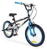 SilverFox New Boys/Chidrens Black/Blue Plank 18Inch Bmx Freestyle Bike - Assorted -