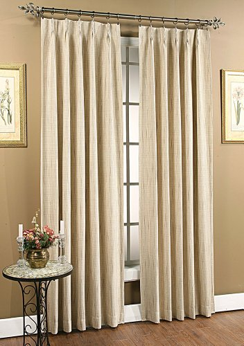 stylemaster tucson thermal insulate pinch pleat drapes 144 by 84 inch beige ebay. Black Bedroom Furniture Sets. Home Design Ideas
