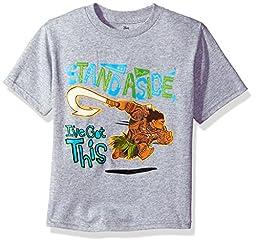 Disney Toddler Boys\' Moana Short Sleeve T-Shirt, Heather Grey, 3T