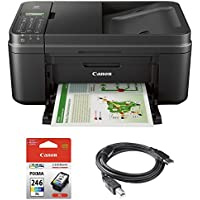 Canon PIXMA MX492 WiFi All-In-One Compact Size Inkjet Printer (0013C002) w/ Canon COLOR Ink Bundle Includes, Genuine Canon COLOR Ink Cartridge & High Speed 6ft. USB Printer Cable