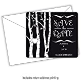 Rustic Woods -3.5x4 Wedding Magnet with FREE Printed Envelopes (150)