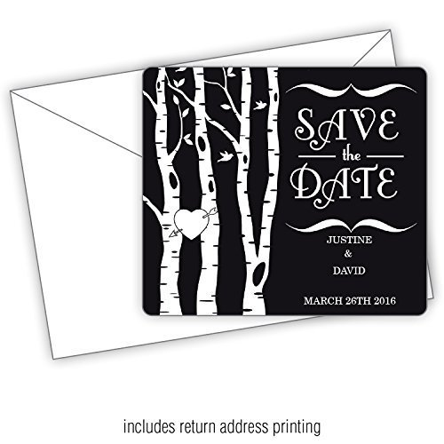 Rustic Woods -3.5x4 Wedding Magnet with FREE Printed Envelopes (150) by Fresh Impressions