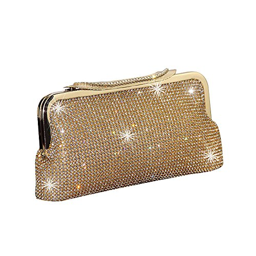Bag Womens Purse Bling Glitter Handbag Bridal Gold UNYU Evening Prom Fashion Party Clutch wIqgqZ5a