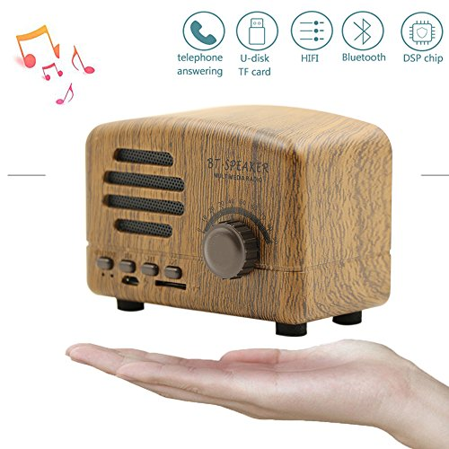 - Portable Bluetooth Stereo Speaker,Langxian Enhanced Bass Retro Wireless Vintage V4.0 Speaker with TF Card Slot For Travel, Home, Beach, Kitchen, Outdoors
