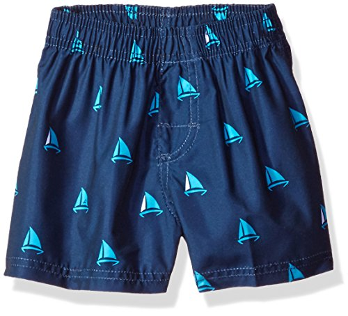 Kanu Surf Baby Boys' Regatta Sailboat Swim Trunk, Navy, 18 Months by Kanu Surf