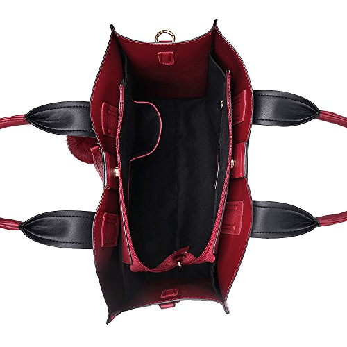 Shoulder Women Hobo Handbag Leather Bags Women's work Tote Red bag Bucket Purses Designer Handbags bags HXPqzTPaU