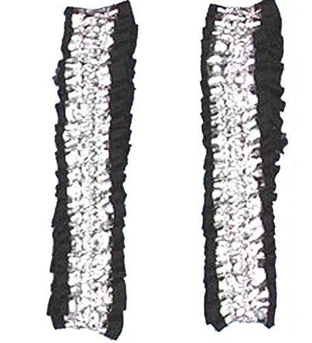 Silver And Black Garters or Armbands - Garters Or Armbands In Silver And Black