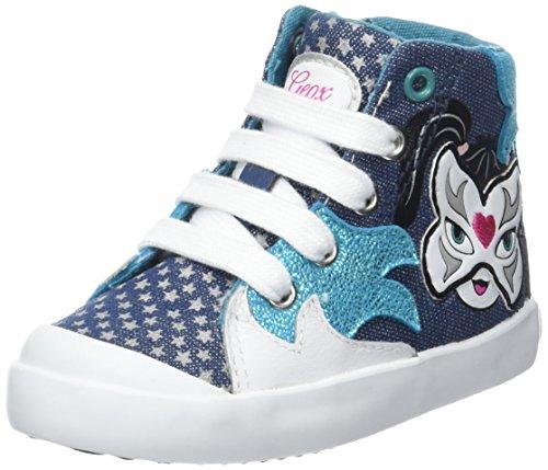 Geox B Kilwi Girl, Zapatillas Altas para Bebés Turquesa (Avio/Turquoise C4133)