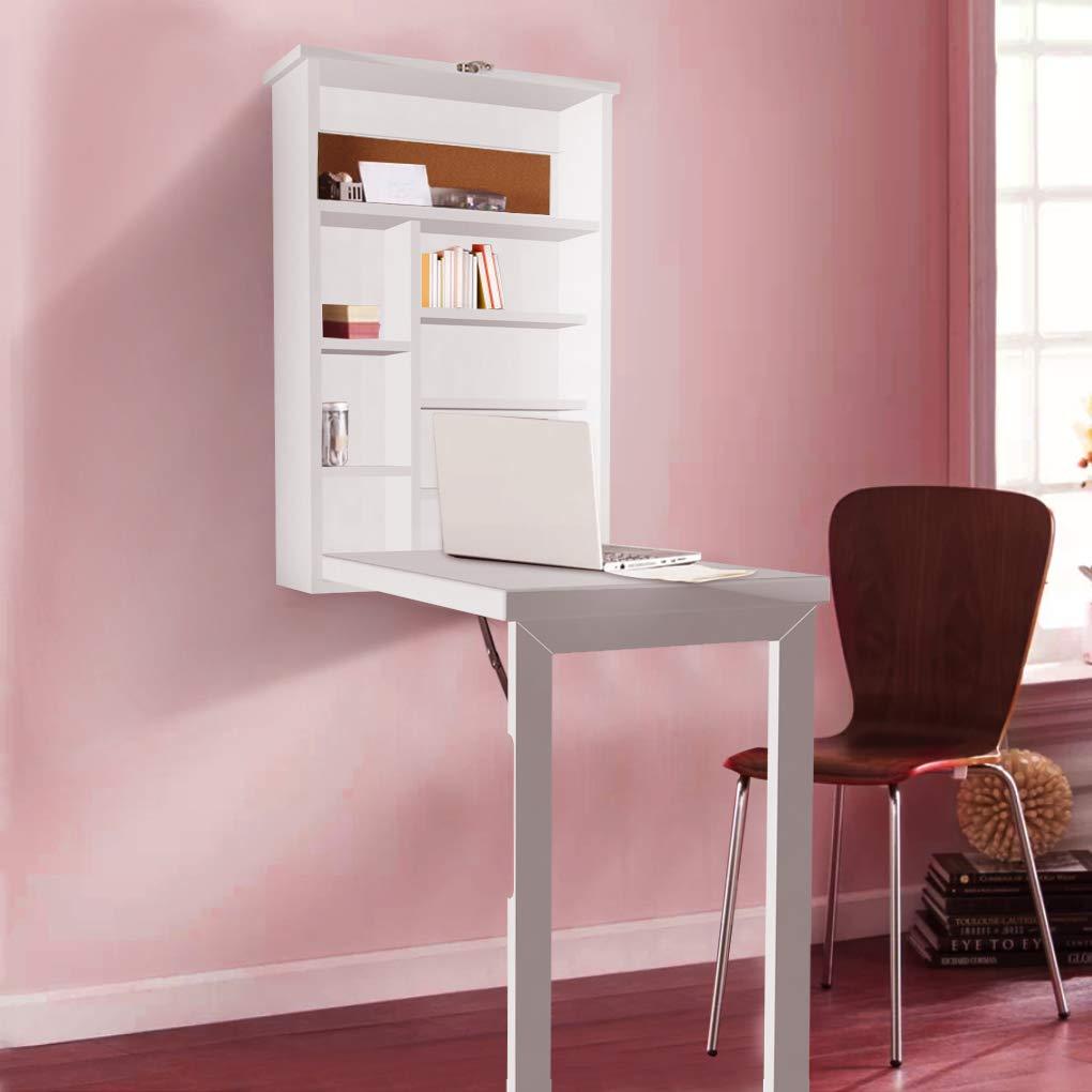 Amazon.com: Bedroom Storage Floor Desk Cabinet Wood Slim ...