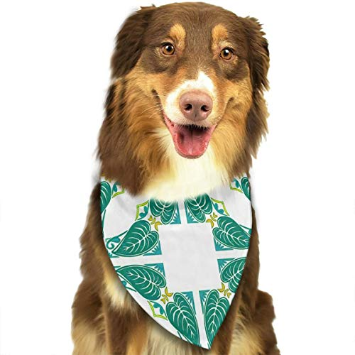 - Dog Bandana Pavement Azulejo Mosaic with Diagonal Square and Shapes Pet Scarf Pet Dog Bandanas Washable Triangle Dog Scarf,Pet Accessories