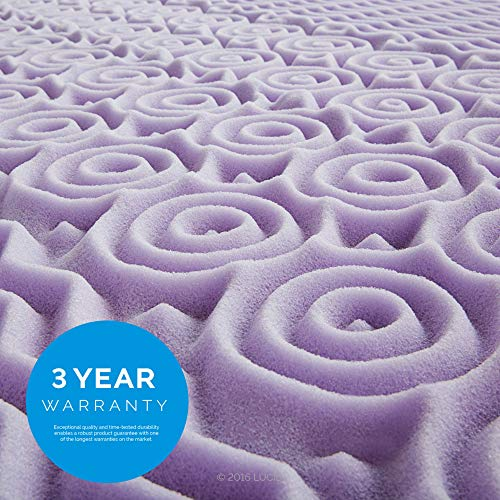 LUCID 2 inch 5 Zone Lavender storing Mattress Toppers