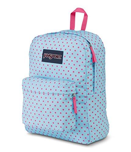 JanSport Superbreak Backpack Blue Topaz Lipstick Kiss