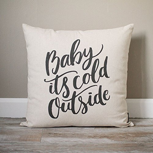 Harley Davidson Baby Bedding (Baby It's Cold Outside Pillow Cover | Holiday Pillow Cover | Holiday Decor | Christmas Gift | Christmas Decor | Christmas Pillowcase | Rustic Home Decor | 16x16)