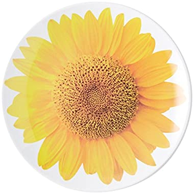 kate spade new york Patio Floral Melamine Accent Plate, Sunflower