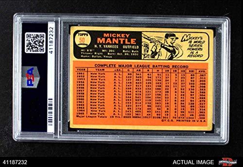 1966 Topps # 50 Mickey Mantle New York Yankees VG Yankees PSA 3 Baseball Card