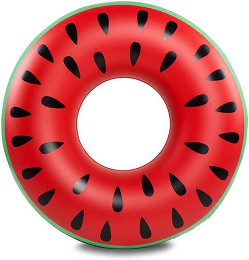 MapleMiss Nado en Río de Tubo del Flotador, Tubos Nadada Inflable - Protección del Medio Ambiente de PVC Inflable sandía Natación Anillo de Agua for Adultos (Size : Watermelon)