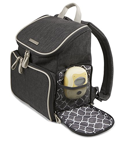 Bananafish Breast Pump Back Pack, Grey Heather by Bananafish (Image #3)
