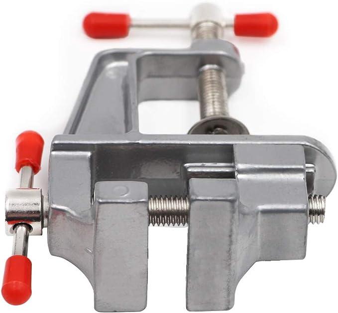 Soulitem Muliti-Funcational Vice Mini Turning Table Vice Table Clamp Screws Vice for DIY Craft Mould Repair Tool Small